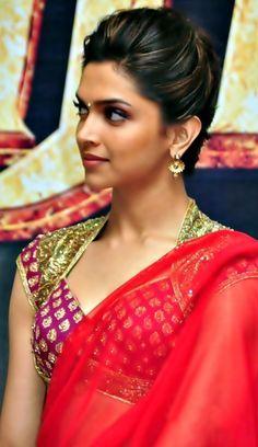 plain saree and embellished blouse