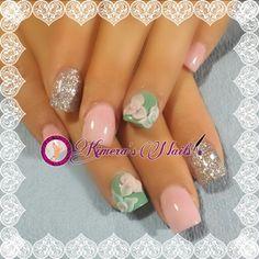 #nails #uñasbellas #uñasacrilicas #acrilycnails #uñas #diseño #kimerasnails #glitter #color #pink #pinkis #rosa #fresas #3Dflower #3D #flores #sculpturenails #esculturales #sculpture #fashion #fashionnails #silver