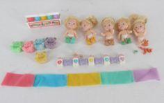 Vintage Tyco Quints Accessories 5 Tiny Baby Dolls | eBay