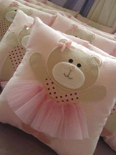 ballerina Bear pillow for girls tutu