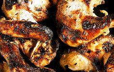 Jogurttimarinoitu broileri Meat Chickens, Chicken Wings, Love Food, Pork, Glaze, Grilling, Kale Stir Fry, Enamel, Pork Chops