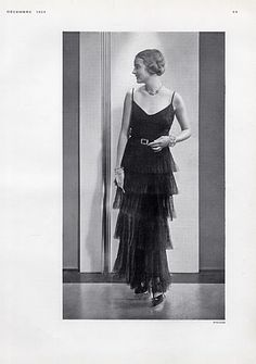 Chanel 1929 Evening Gown, Fashion Photography