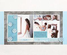 Wedding Scrapbook Layout Ideas: Behind-the-Scenes Layout