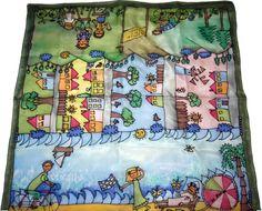 Šatka -obrázok do detskej izby na zarámovanie Silk Painting, Lunch Box, Bento Box