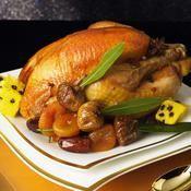 Poularde au miel d'épices et ses fruits d'hiver - une recette Fête - Cuisine