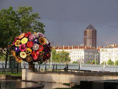 Beaucoup d'orages sur Lyon et d'averses. J'ai pris quelques photos de ce ciel d'orage ....et de la crue du Rhône