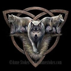 New wolf design from Anne Stokes featuring a triquetra symbol Anne Stokes, Gothic Fantasy Art, Fantasy Wolf, Wolf Tattoo Design, Wolf Design, Wolf Tattoos, Animal Tattoos, Anime Wolf, Wolf Hybrid