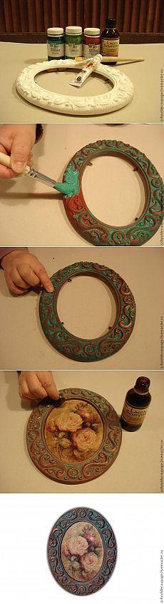 La imitación de cobre antigua pátina. barniz de bronce.