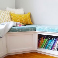L-Shaped Corner Bench with Storage - Contemporary - Kids - boston ...