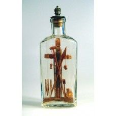 Cross and Religious Symbols in bottle