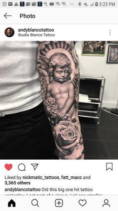 Forarm Tattoos, Forearm Sleeve Tattoos, Full Sleeve Tattoos, Head Tattoos, Body Art Tattoos, Tattoo Oma, Tattoo Pain, Religious Tattoo Sleeves, Religious Tattoos
