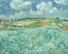Van Gogh, Plain Near Auvers, July 1890. Oil on canvas, 73.3 x 92.0 cm. Neue Pinakothek, Munich.