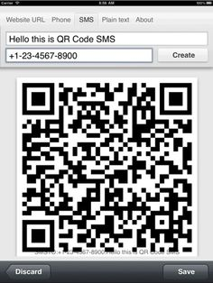 The QR code generator I use is   http://qrcode.kaywa.com/