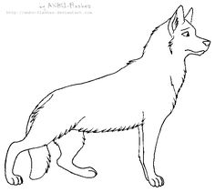german shepherd dog coloring pages - German Shepherd Coloring Page