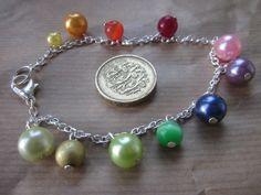 Ankle Bracelet Rainbow Colours  £6.00