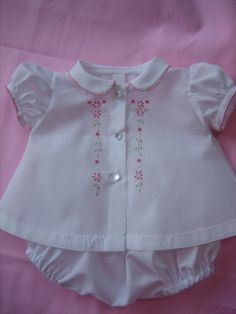 beautiful embroidered diaper shirt and bloomers, IMG_0970 | Flickr