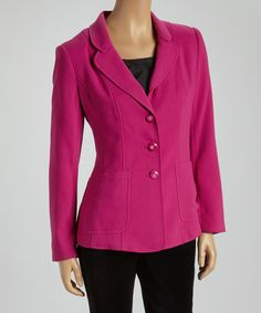 Fuchsia Two-Button Blazer   Daily deals for moms, babies and kids