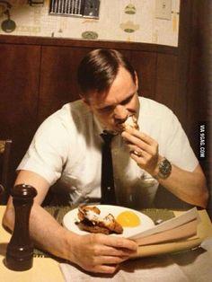 Neil Armstrong eatin