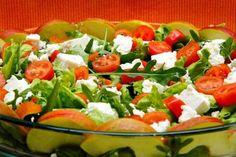 Arugula Salad, Caprese Salad, Cobb Salad, Plum Tomatoes, Cherry Tomatoes, Cottage Cheese Recipes, Coriander Powder, Sauces, Feta