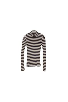Spun from soft jersey, the Alana top has plenty of natural stretch for a close yet flexible fit. Wear it solo to show off the slightly sheer finish. Striped Jersey, Navy Stripes, It Is Finished, Natural, Fit, How To Wear, Tops, Style, Swag