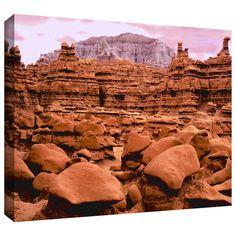 ArtWall Dean Uhlinger 'Goblin Valley Dusk' Gallery-wrapped Canvas