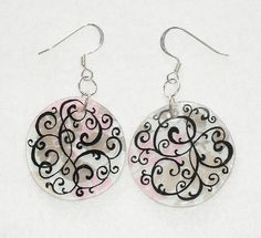 Swirling Flowers Shrink Plastic Earrings by ashleyjoyk, via Flickr