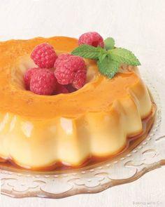 Flan de mascarpone bañado en caramelo Flan Dessert, Jello, Custard, Mousse, Sweet Recipes, Cheesecake, Deserts, Cookies, Cream