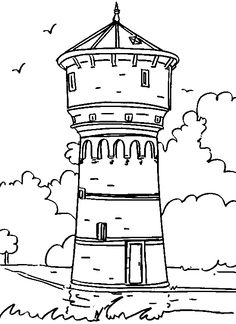 48 Best Flawer Vaas Images Coloring Pages Castle Coloring Page