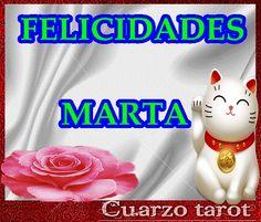 """FELICIDADES """"MARTA"""" HOY ES TU SANTO #FelizMartes #FelizDía #BuenosDías #Martas https://www.cuarzotarot.es/"""