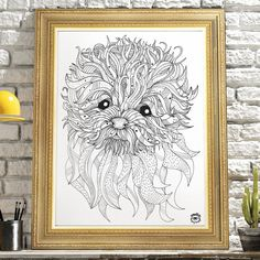 Bolognese Dog A4 illustration print art dog print dog by mmuffn