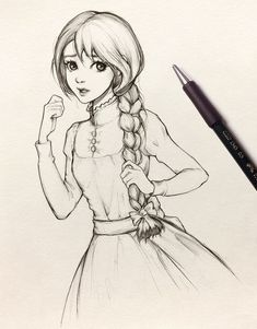 Student girl – sketch by ohayorinka on DeviantArt Sophie – sketch by ohayorinka Disney Drawings Sketches, Girly Drawings, Art Drawings Sketches Simple, Anime Girl Drawings, Princess Drawings, Easy Drawings, Creative Pencil Drawings, Princess Sketches, Cartoon Girl Drawing