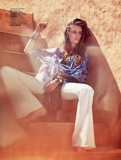 """""""La Nomade"""" by Laura Sciacovelli for Marie Claire Italia May 2015"""