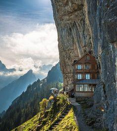 berggasthaus aescher hotel; appenzellerland, switzerland.
