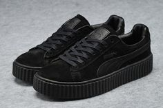 Puma Rihanna X Creepers Casual Shoes Suede All Black - Puma Shoes
