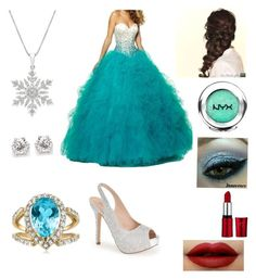 """""""Winter ball"""" by friends-forever-and-always ❤ liked on Polyvore featuring Lauren Lorraine, Disney and NYX"""