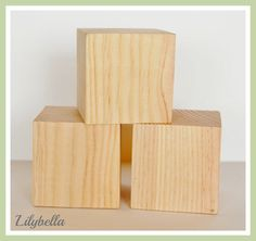 Unfinished Pine Wood Block Set  For DIY by lilybellaboutique, $10.50 9 pack