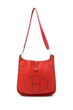 Vintage Hermes Leather Evelyne GM Shoulder Bag