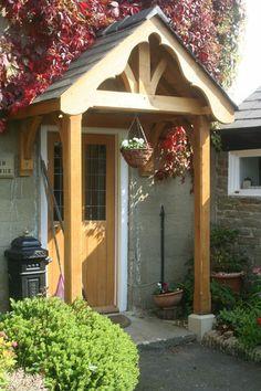 Green oak pillar porch (4)