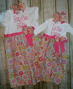 e81139700 Bella and Emma's Matching sister Outfits by PrettyLittleRose, she did an  awesome job!