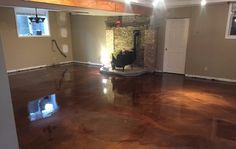 CONTACT us today for a quote on epoxy flooring, concrete resurfacing & more - . Stained Concrete, Concrete Floors, Concrete Staining, Basement Flooring, Basement Remodeling, Home Projects, Home Crafts, Just Dream, Winston Salem