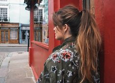 green embroidered sequins jacket