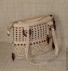 Crochet Purses, Crochet Bags, Macrame Design, Afghan Crochet Patterns, Crochet Videos, Leather Backpack, Couture, Bucket Bag, Purses And Bags