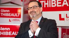 Liberal candidate Glenn Thibeault is seen celebrating his byelection win on Feb. 5, 2015, in Sudbury.