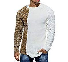 Vska Men Slim Fitting Ribbed Knitwear Knitting Pullover Sweater Jumper