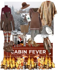 """""""Cocoa Cabin Fever"""" by monica-jordan on Polyvore"""