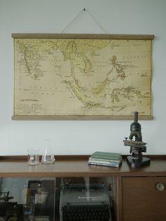 The Great Indoors » Vintage Malaysia Map  Weh gila kau tak beli?  /RM75