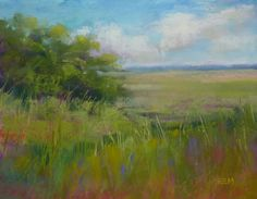 Painting the Greens of the Southeast, painting by artist Karen Margulis