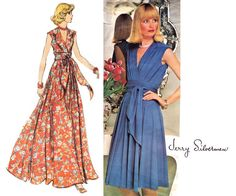 JERRY SILVERMAN Wrap Dress or Evening Maxi by allthepreciousthings