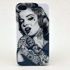 Patroon Tattoo Girl Hard Case voor iPhone 4/4S – EUR € 3.67