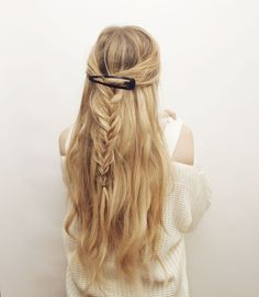 Half-up Clipped Braid Hair Tutorial – Kassinka